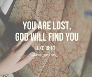 find, found, and god image