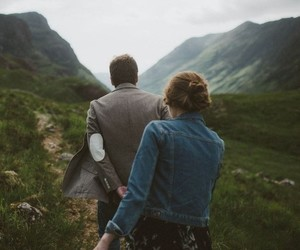 couple, love, and nature image