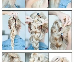 hairstyle, mujer, and trenza image