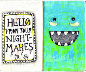 hello, monster, and night image