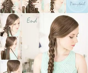 belleza, trenza, and hairstyle image