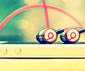 music, beats, and iphone image