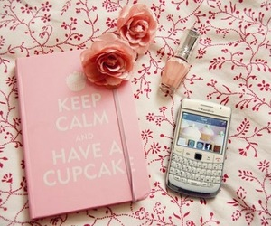 pink, blackberry, and keep calm image