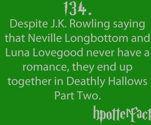 fact, neville longbottom, and harry potter facts image