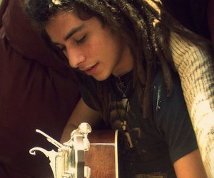dreads, guitar, and hippie image