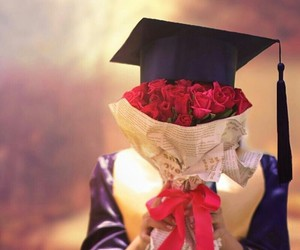 graduation and rose image