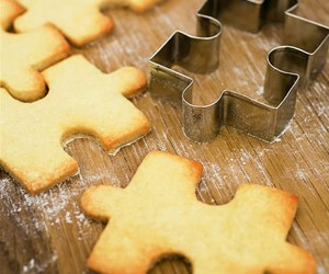puzzle, Cookies, and food image