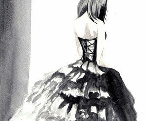 anime, dress, and draw image