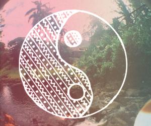 peace, ying yang, and nature image