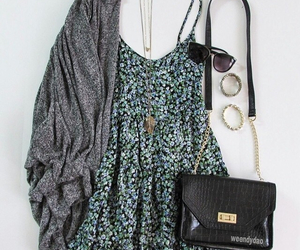 dress, outfit, and bag image