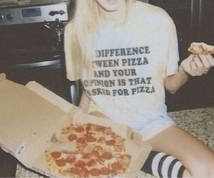 pizza, grunge, and food image