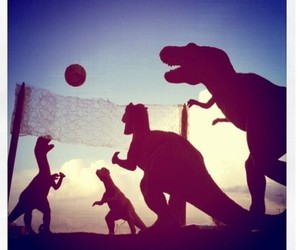 volleyball, dinosaur, and sport image