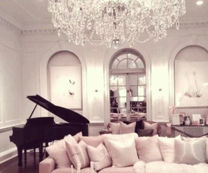 piano, luxury, and house image