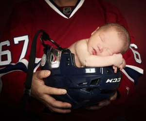 baby, hockey, and nhl image