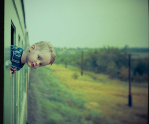 train, kid, and cute image