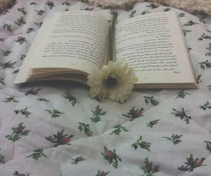 book, flower, and grunge image