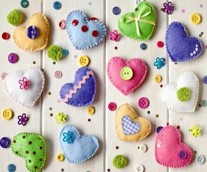 hearts, buttons, and heart image