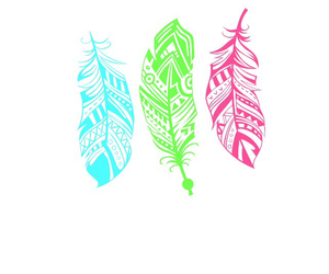 colorful, feathers, and wallpaper image
