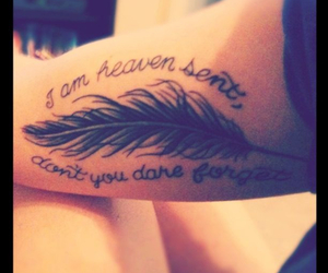brand new, feather, and tattoo image