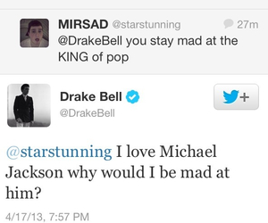 drake bell, michael jackson, and twitter image