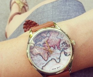 time, watch, and world image