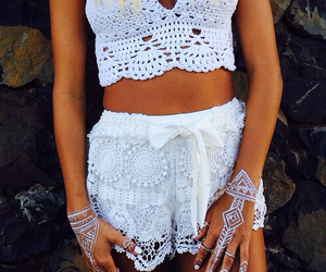 fashion, white, and summer image