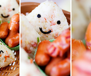 food, onigiri, and rice image