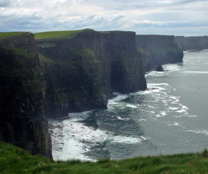 Atlantic, cliffs of moher, and green image