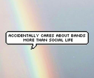 band, rainbow, and music image
