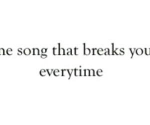 song, love, and broken image
