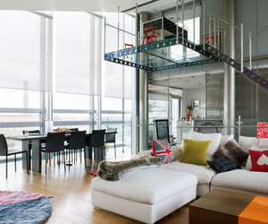 apartment, interior design, and loft image