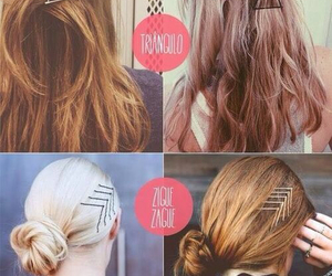 hair, diy, and bobby pins image