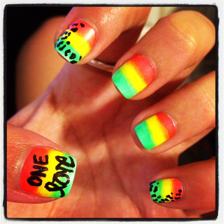Nails Jamaican Love Uploaded By Rina On We Heart It