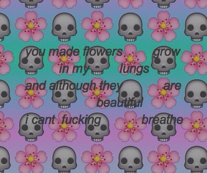 grunge, love, and flowers image