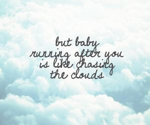 clouds, love, and celinequotes image