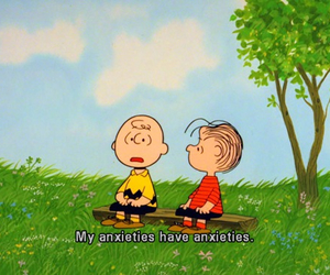 charlie brown, anxiety, and quote image