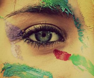 eyes, girl, and colors image