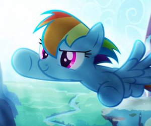 fly and rainbow dash image