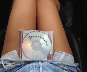cd, legs, and girl image