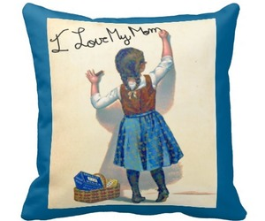 vintage and kids room throw pillow image