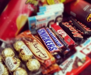 chocolate, kitkat, and snickers image