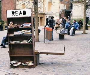 book, read, and street image