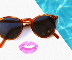 summer, sunglasses, and lips image