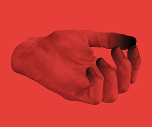 red and hand image