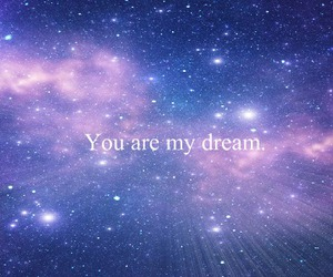 Dream, you, and stars image