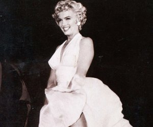 black and white, the seven year itch, and Marilyn Monroe image