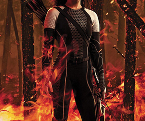 catching fire, katniss everdeen, and hunger games image