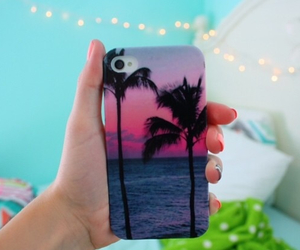 case, iphone, and palm trees image