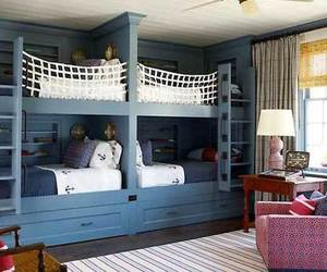 bunk bed, bedroom, and room image