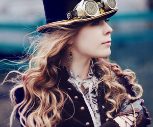 steampunk and girl image